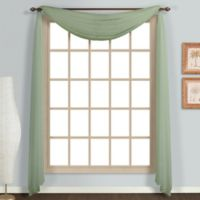 Monte Carlo Sheer Voile Scarf Valance in Sage