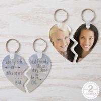 Best Friends Break Apart Heart Keychain