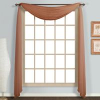 Monte Carlo Sheer Voile Scarf Valance in Spice