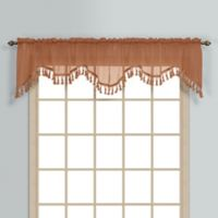 Monte Carlo Sheer Voile Scalloped Valance in Spice