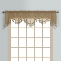Monte Carlo Sheer Voile Scalloped Valance in Taupe