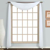 Monte Carlo Sheer Voile Scarf Valance in White