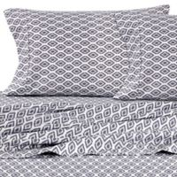 Micro Lush Microfiber Ikat California King Sheet Set in Grey