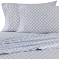 Micro Lush Microfiber Medallion California King Sheet Set in Light Blue