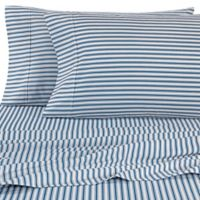 Micro Lush Microfiber Striped California King Sheet Set in Teal