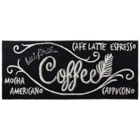 Liora Manne Frontporch 5' Runner Coffee Rug in Black