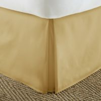 Home Collection Pleated Full Bed Skirt in Gold