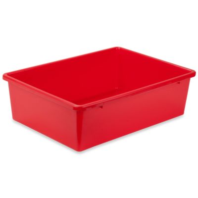 Honey Can Do Large Plastic Storage Bin In Red