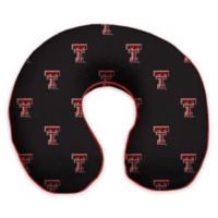Texas Tech University Memory Foam U-Shaped Neck Travel Pillow