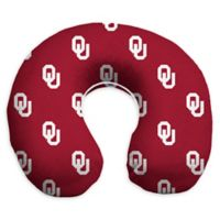University of Oklahoma Memory Foam U-Shaped Neck Travel Pillow