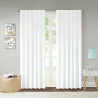 Lizzie Dot 95-Inch 100% Blackout Rod Pocket Window Curtain Panel in Aqua