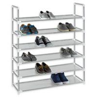 Studio 3B™ 6-Tier Fabric Shoe Rack in Grey
