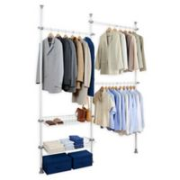 Wenko Herkules 2-Tier Telescopic Duo Closet Organization System