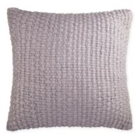 Kenneth Cole Thompson Wool Knit Square Throw Pillow in Stone