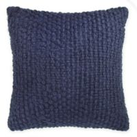 Kenneth Cole Reaction Home Mineral Wool Knit Square Throw Pillow in Navy