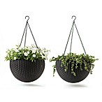 Keter® Resin Indoor/Outdoor Hanging Planters in Brown (Set of 2)