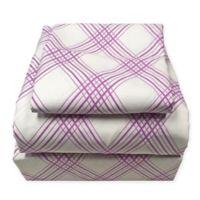 American Colors Plaid Full Sheet Set in Purple