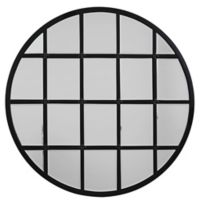 Jamie Young 36-Inch Round Metal Grid Wall Mirror