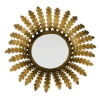 Jamie Young Elouise 25-Inch Round Antique Brass Wall Mirror