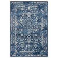 KAS Azure Blue Marrakesh 2-Foot 7-Inch x 4-Foot 11-Inch Accent Rug