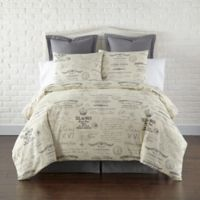 Levtex Home Girona Reversible Twin Duvet Cover Set in Grey