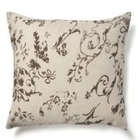 Amity Home Leona European Pillow Sham in Charcoal Brown