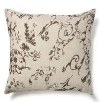 Amity Home Leona European Pillow Sham in Charcoal Brown