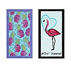 Betsey Johnson® Pineapple Beach Towels (Set of 2)