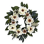Nearly Natural 22-Inch Magnolia Wreath