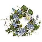 Nearly Natural 17-Inch Hydrangea Wreath
