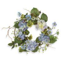 Nearly Natural 20-Inch Hydrangea Wreath