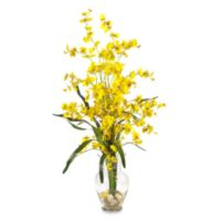 Nearly Natural Dancing Lady Liquid Illusion Silk Arrangement in Yellow