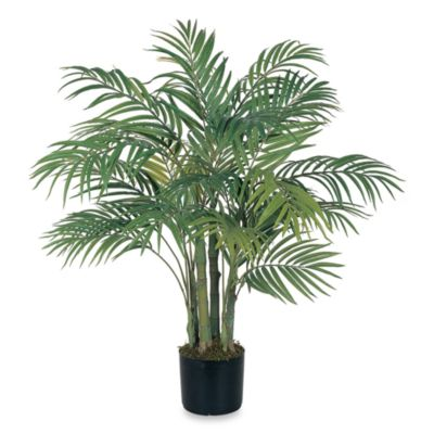 nearly natural areca palm 3 foot silk tree with 7 trunks - Palm Tree Decor
