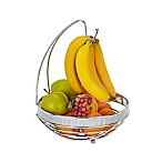 Kitchen Details Fruit Basket with Banana Tree in Chrome<br />