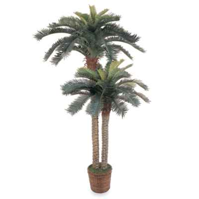 Nearly Natural Sago Palm Double Potted Silk Trees