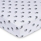 Gerber® Elephant Fitted Jersey Crib Sheet in Grey/Pink