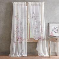 Roxy Printed 63-Inch Rod Pocket Window Curtain Panel in Amethyst