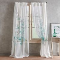 Roxy Printed 84-Inch Rod Pocket Window Curtain Panel in Aqua