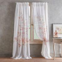 Roxy Printed 63-Inch Rod Pocket Window Curtain Panel in Blush