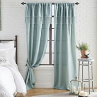 Roxy Solid 108-Inch Rod Pocket Window Curtain Panel in Mint