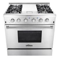 Thor Kitchen® 36-Inch Freestanding Gas Range in Stainless Steel