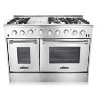 Thor® Kitchen 48-Inch Freestanding Gas Range with Convection in Stainless Steel