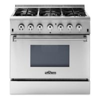 Thor Kitchen® 36-Inch Freestanding Dual-Fuel Gas Range in Stainless Steel