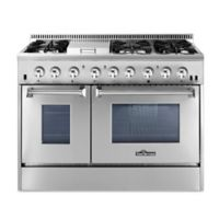 Thor® Kitchen 48-Inch Freestanding Dual Range in Stainless Steel