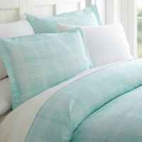 Patchwork Plaid King Sheet Set in Aqua