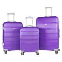 American Green Travel Plateau 3-Piece Luggage Set in Purple