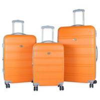 American Green Travel Plateau 3-Piece Luggage Set in Orange
