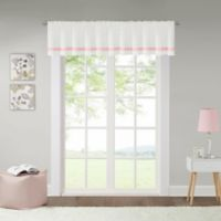 Lizzie Dot 100% Blackout Valance in White/Pink