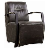 Home™ Faux Leather Upholstered Chair in Dark Brown