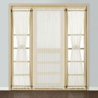 Madura Batiste 45-Inch Rod Pocket Door Window Curtain Panel in Natural